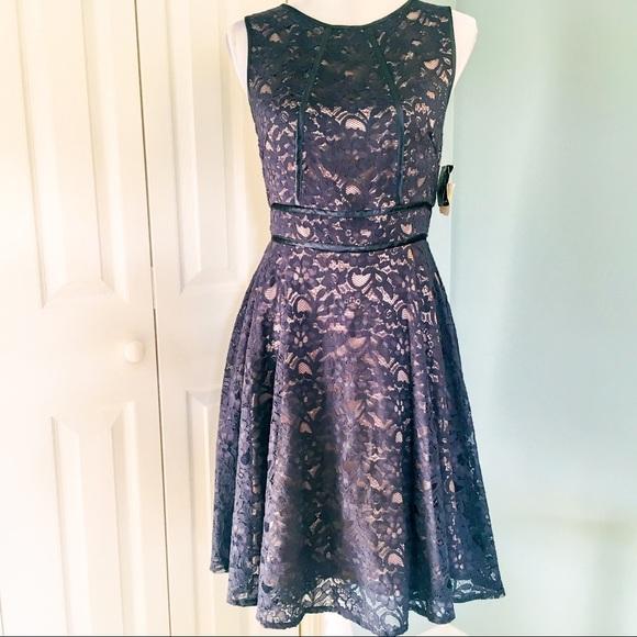 f62510e79d NWT Anthropologie Gabby Skye navy lace dress sz 4